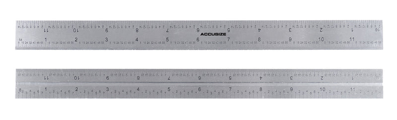12'' 4 Combination Square Ruler Set Protractor Satin, 4-R Graduation, 0000-8101
