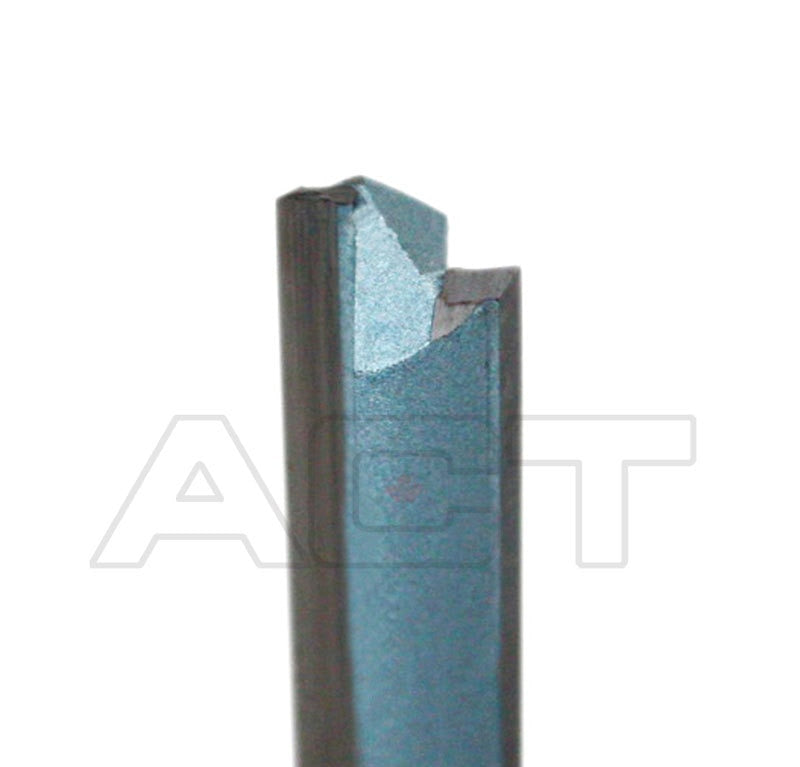 "Double Flute Extra Long Straight Router Bit with 1/2"" Shank, Industrial Quality"
