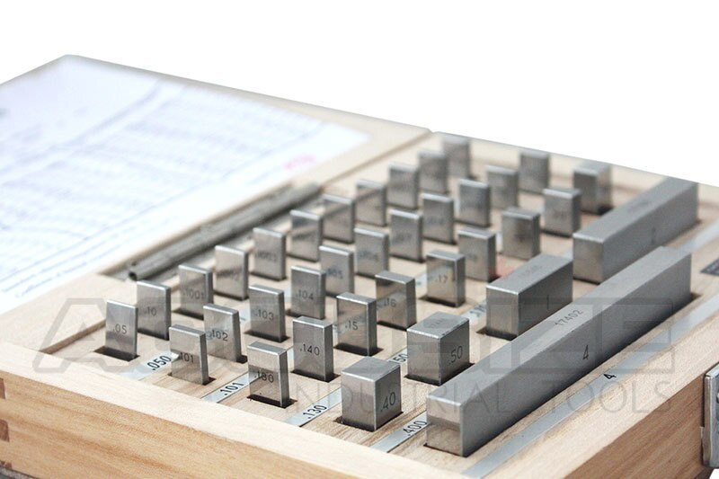 36 pc Steel Gage Block Set, Grade As-2 ASME B89.1.9-2002, with MFG's Certificate,
