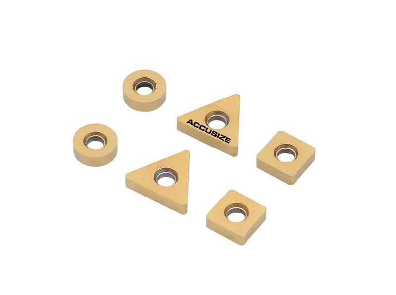 0046-0701, 6 ps/set Inserts carbure 2 ps TNMA322, 2 ps SNMA 322, 2 ps RNMA 322 pour moulins Little Hogger