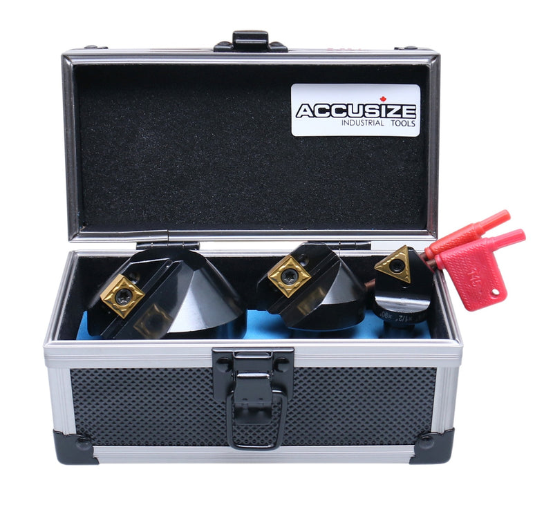 3 Pcs Indexable Countersink Sets