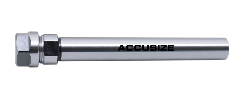 Accusize Industrial Tools 5.51'' Shank Length 3/4'' Straight Shank Alloy Steel ER16 Collet Chuck Extension Rod, 0223-0209