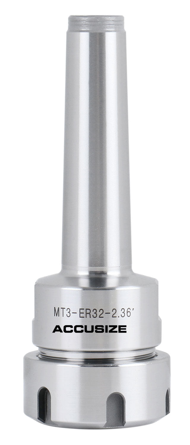 MT3-ER32 Morse Taper Shank ER Collet Chucks, Max RPM 8,000, 0223-0236