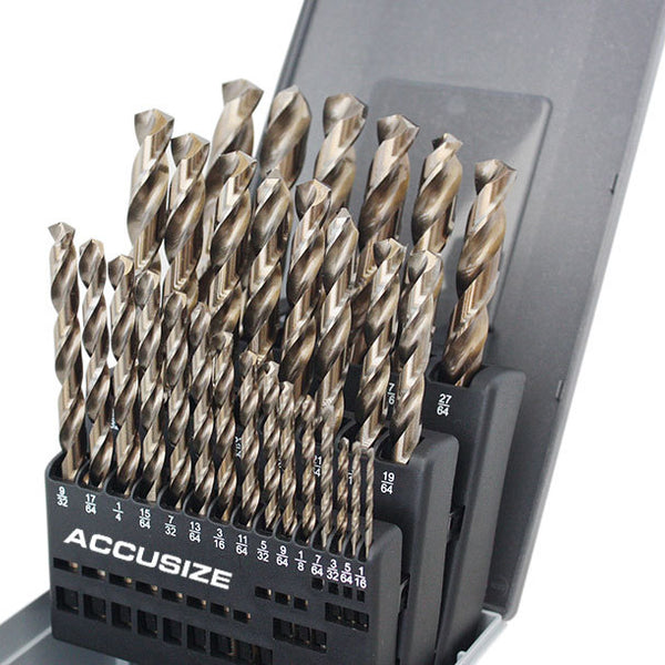 Accusize Industrial Tools 5 pc H.S.S 4 Oal All Length of Each Drill 3560-1001 M2 Long Series Center Drill Set