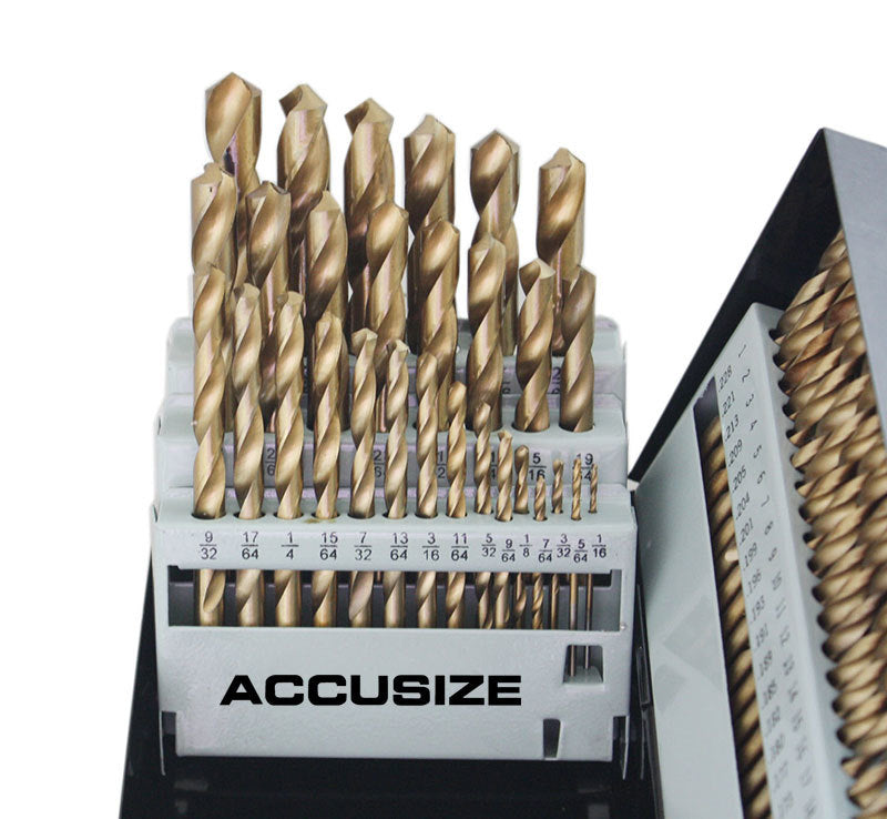 "0422-0003, 115 PC HSS TIN Coated Drill Bit Sets, 3-in-1, 1/16 - 1/2"" By 64ths, No.1 to 60, A to Z"