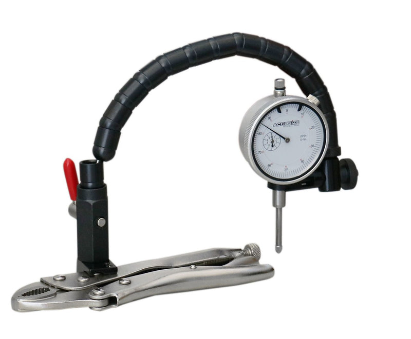 "Premium Automotive Products - Disc and Rotor / Ball Joint Gage, 1"" x 0.001"" Indicator & 360° Flexible Stem Holder,"