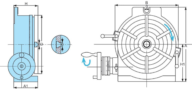 HV-10 Horizontal/Vertical Rotary Table, 1001-003