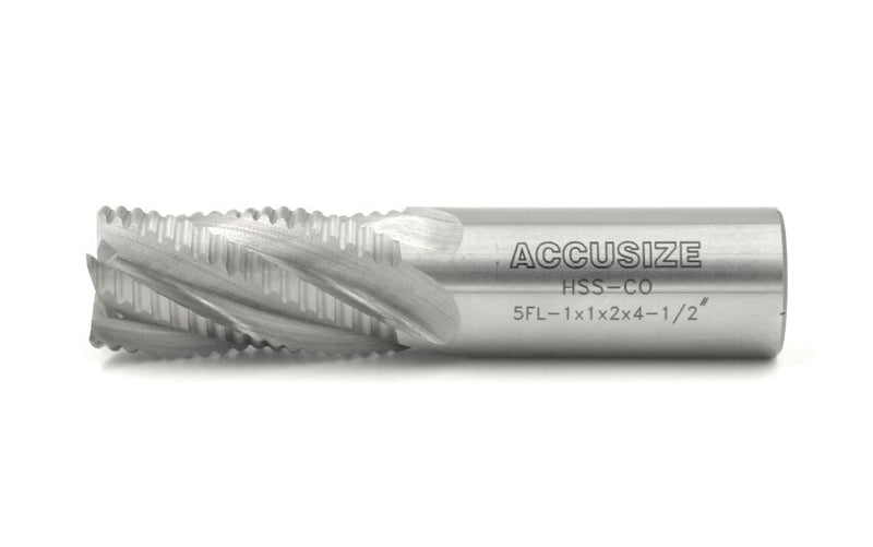 M42-8% Cobalt Roughing End Mills, Standard Tooth