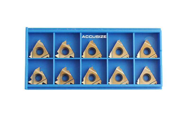 Threading Inserts, Carbide, Tin Coating,  Replacement of 12-Pc-UN-Threading Set