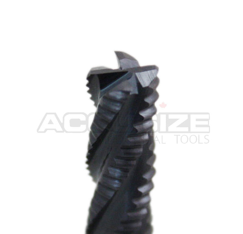 Fine Tooth, TiAlN Coated, M42-8% Cobalt Roughing End Mills