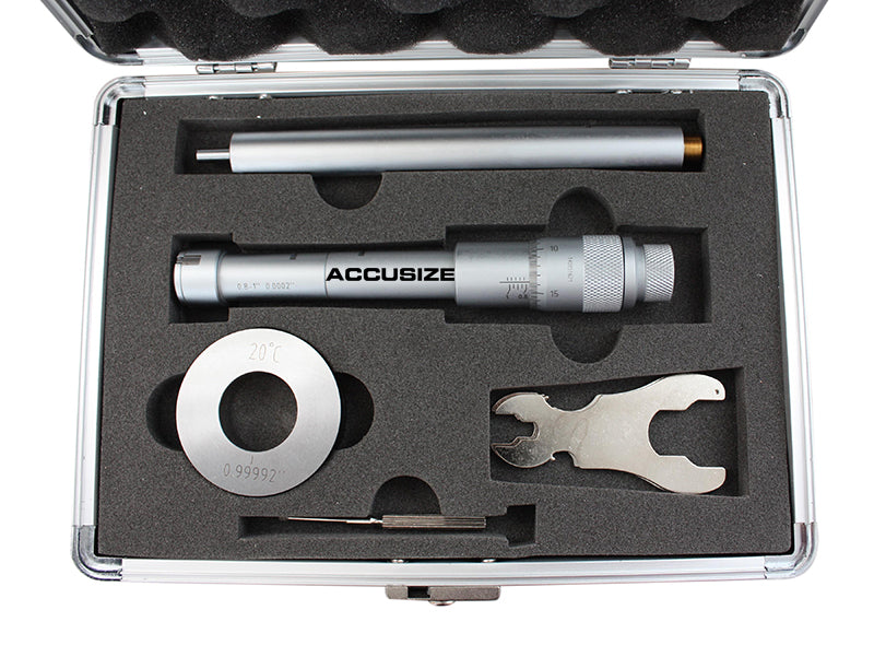 Three -Point Internal Micrometers, Ratchet Stop