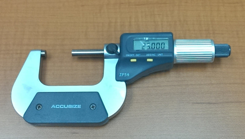 2-Key Electronic Digital Micrometers, IP54, Ratchet Friction Thimble Type