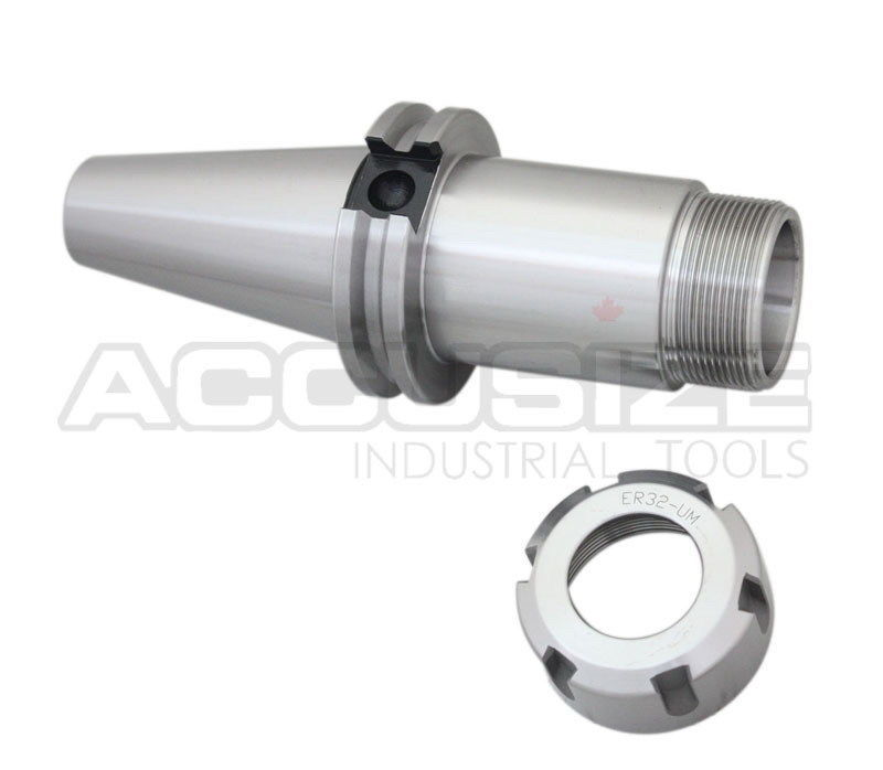 "CAT40-ER32 4"" Collet Chuck & ER32 18ps/set Metric Collet Set, Range: 3.0- 20.0 MM"