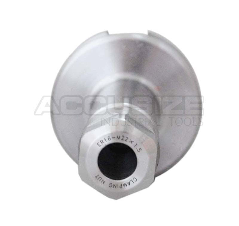 "1608-0016x10, 10 ps BT40 ER16 V-Flange Collet Chuck Length 4"", Range 1/8-7/16"