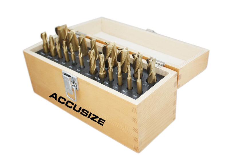 1810-0104, Metric 20pc TIN Coated End Mill Sets