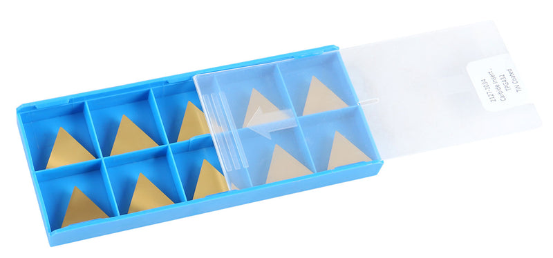 TPG, TiN Coated Carbide Inserts, 10 Pcs/Set