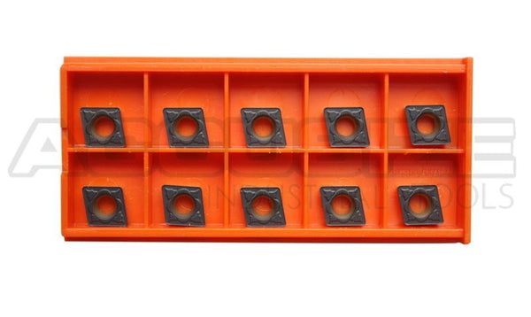 CCMT 09T308 CVD Coated Solid Carbide Inserts for Turning Steel RISHET TOOLS 30180 CCMT 32.52 Pack of 10