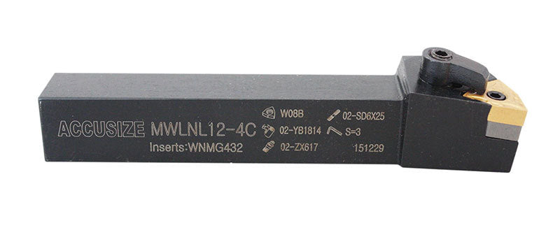MWLN R/L Toolholders with Carbide WNMG Inserts