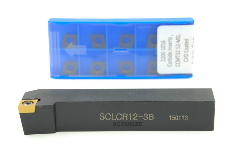 SCLC R/L Toolholders with Extra 10 CCMT Carbide CVD Coated Inserts