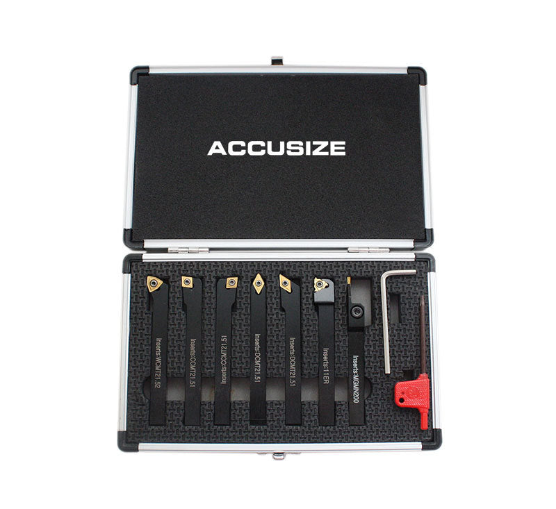 7 Pc/Set, Indexable Carbide Turning Tools