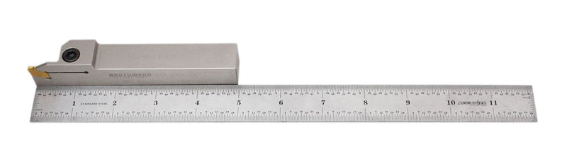 "Heavy-Duty Indexable Grooving & Cut-Off Holder with Extra 10 Carbide TiN Coated GTN Insert Bundle, 3/8"", 1/2', 3/4"", & 1"", Right Hand"