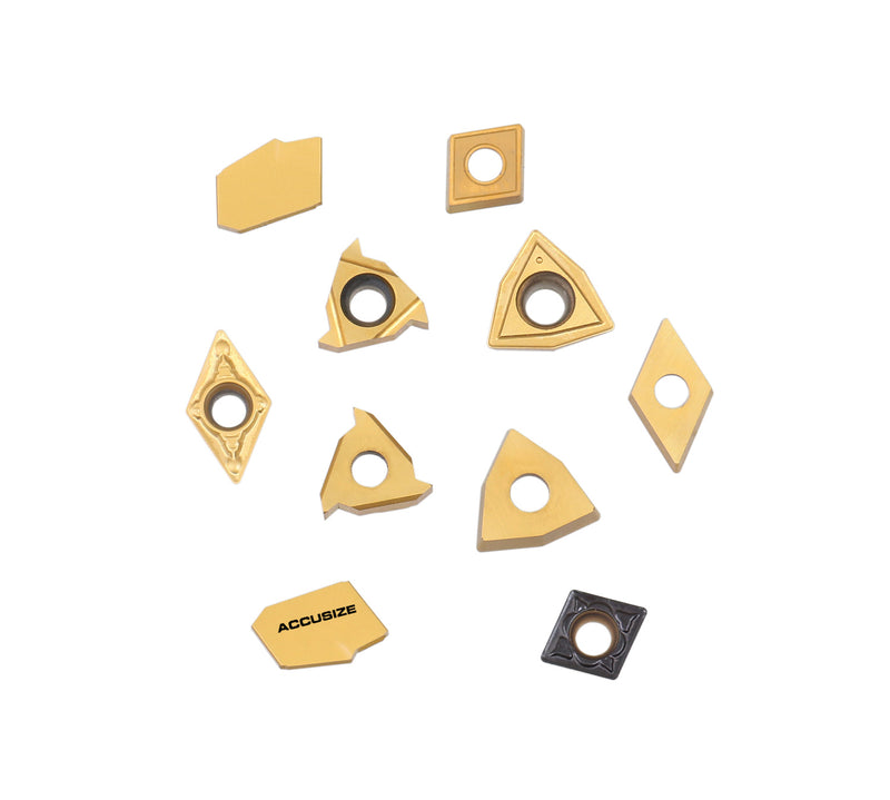 Accusize Industrial Tools 2 Pc of Each Kind of Carbide Inserts for 2988-0012, CVD Coated and Tin Coated, Total 10 Pieces, 2988-0012Inserts