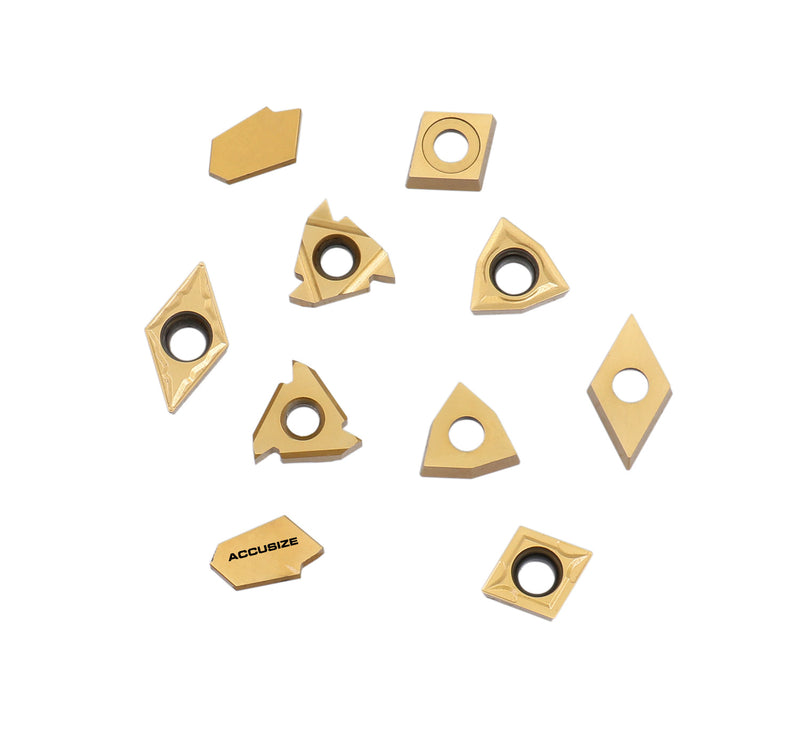 Accusize Industrial Tools 2 Pc of Each Kind of Carbide Inserts for 2988-0034, CVD Coated and Tin Coated, Total 10 Pieces, 2988-0034Inserts