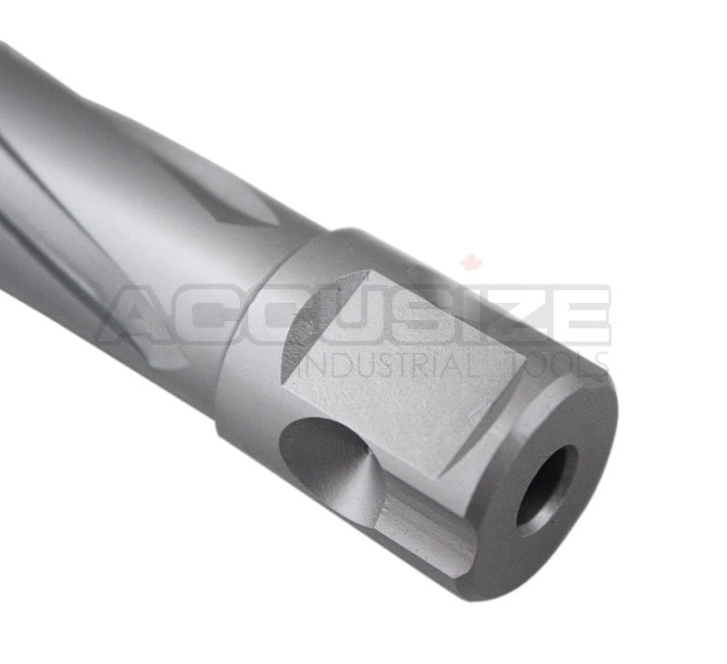 "Carbide Tipped Annular Cutter with One-Touch Shank CBN Ground, ANSI Standard, Cutting Depth: 1"" or 2"""