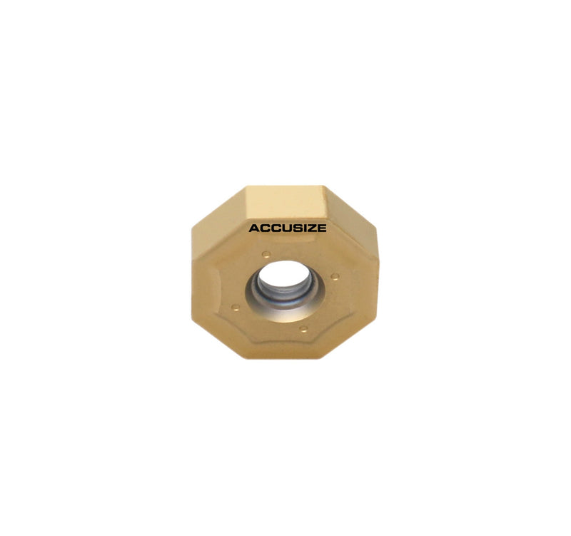 Octagonal Double Side ONHU080608-M Carbide Inserts, PVD Coated