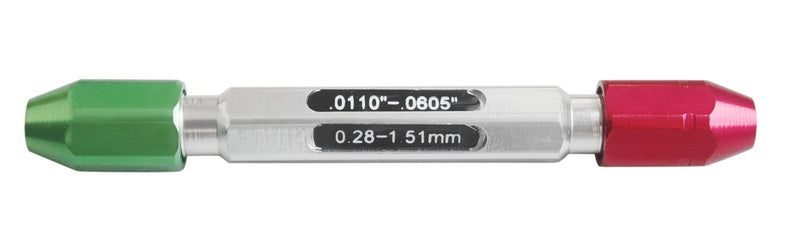 """#3350-0100 0.011-0.0605/"""" Go//No Go Double End Gage Handle for Pin Gages"""
