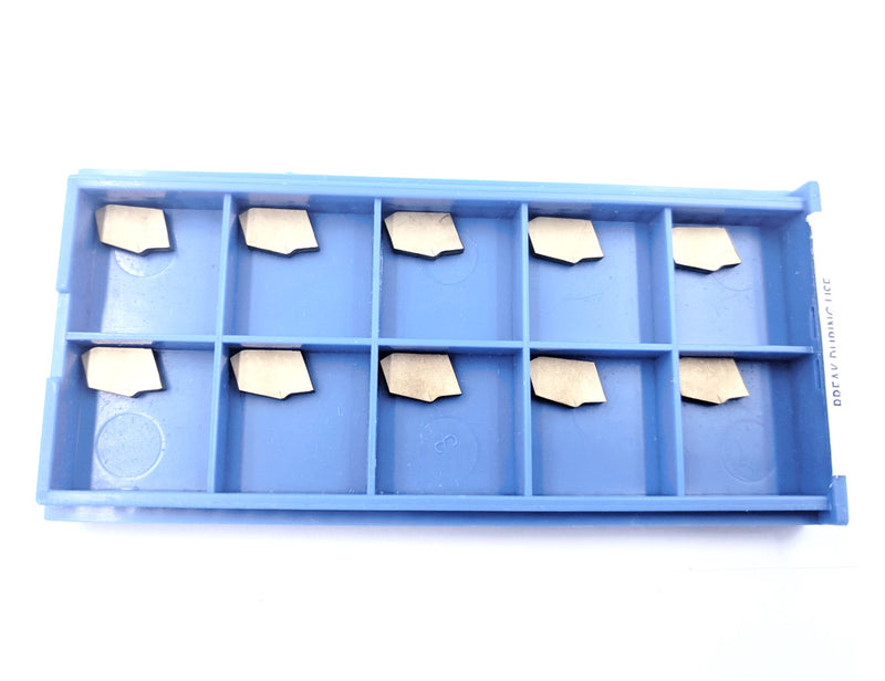 Self-Lock Carbide Cut-off GTN Carbide Inserts, 0 Degree Angel, TiN Coated 10 Pcs/Box