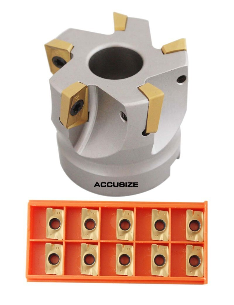 "2"" x 3/4"" 90 Deg. Square Shoulder Indexable Face Mill plus 15 pc of APKT1604 Inserts"