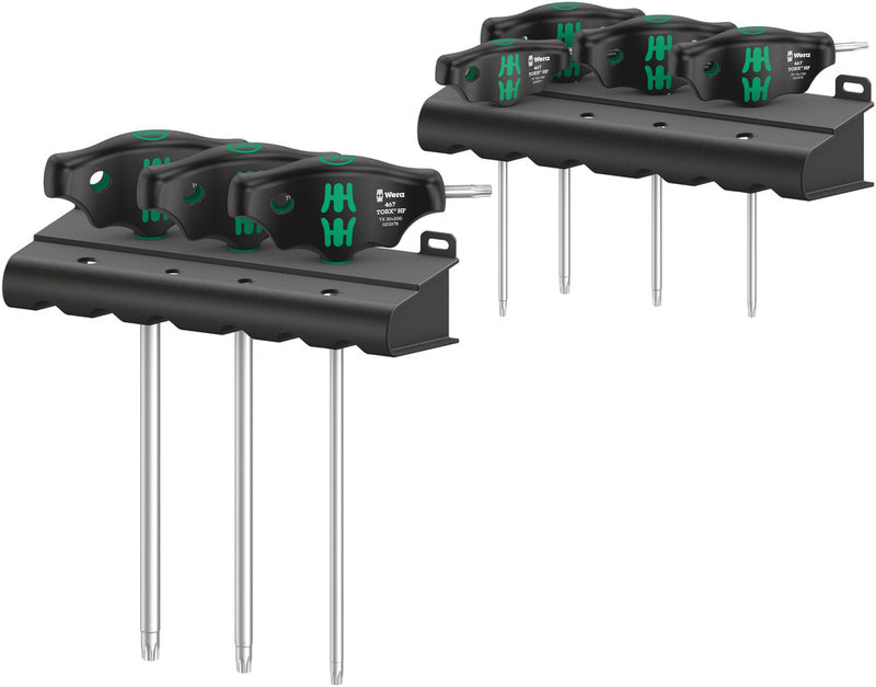 Wera 467/7 TORX® HF Set 1 screwdriver set T-handle TORX® screwdrivers with holding function, 7pieces
