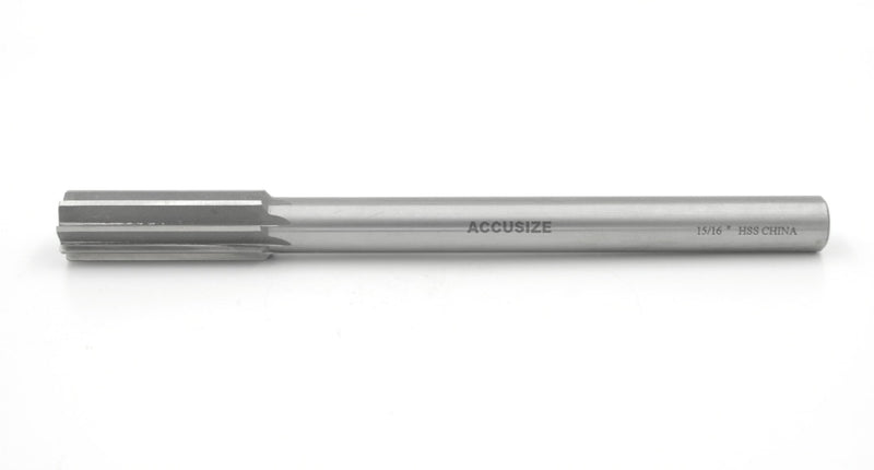 Inch ANSI HSS M2 Single Straight Flute Chucking Reamers