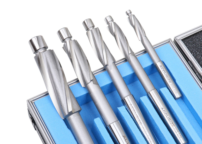 509S-0007, 7ps/Set Premium Inch HSS Solid Capscrew Counterbore Set 3 Flute Straight Shank