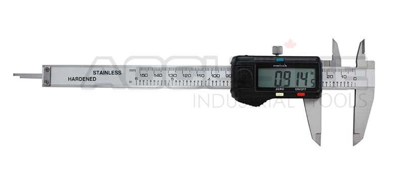 Left-Hand Digital Caliper with Extra Large Screen