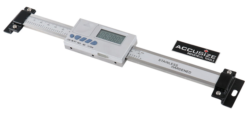 0-6''/0-150 mm by 0.0005''/0.01 mm Horizontal Digital Scale for DRO Readout, Abho-0006
