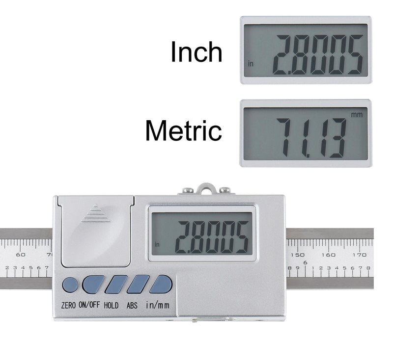 0-8''/0-200 mm by 0.0005''/0.01 mm Horizontal Electronic Digital Dro Scale Unit, Abho-0008