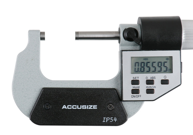 1-2'' by 0.00005'' Electronic Digital Outside Micrometer, 5 Key, Ac20-2022