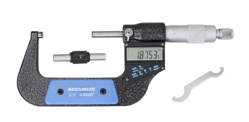 "3ps/set, 0-1"", 1-2"", 2-3"" 7-Key-Electronic-Digital-Micrometers inch/metric,"