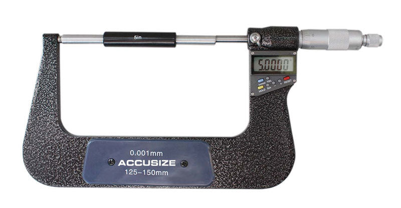 "Electronic Digital Micrometers, 7 Keys, 0-1"", 1-2"", 2-3"", 3-4"", 4-5"", & 5-6"", inch, imperial"