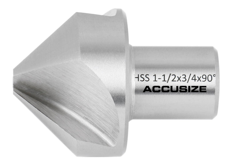 1-1/2'' Hss Countersink for Rota-Cutter, 3/4'' Weldon Shank for Magnetic Drilling Machines, 90 Deg, Ce00-0112