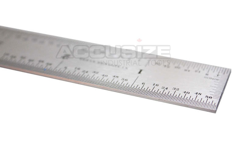 "Stainless Steel Precision Machinist 12"" 4R Ruler/Rule, 4R (1/64"" & 1/32"" on one side and 1/16"" & 1/8"" on reverse)"