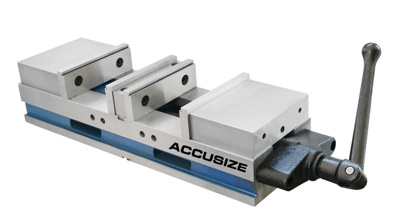 "FA42-1242, 6"" Double Lock Angle Tight Precision Machine Vise with 2 Clamping Station"