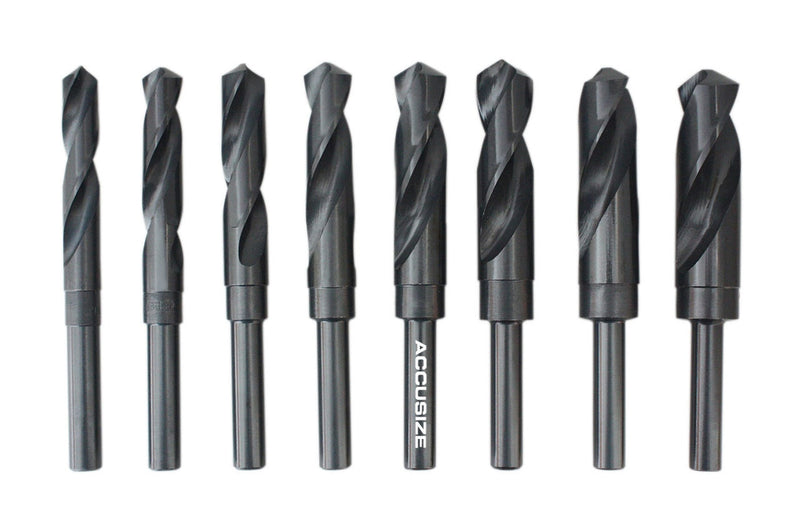 "H516-6502, 8 ps/set HSS 1/2"" Shank Silver & Deming Drills"