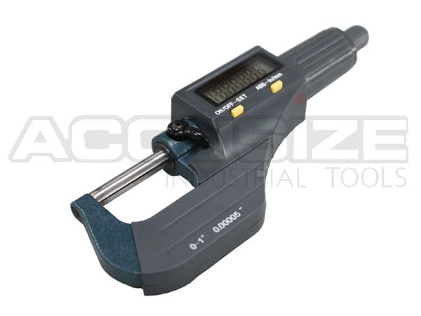 "Electronic Digital Outside Mic 0-1""/0-25 mm x0.0005"" /0-25mmx0.001mm, with Micrometer Holder,"