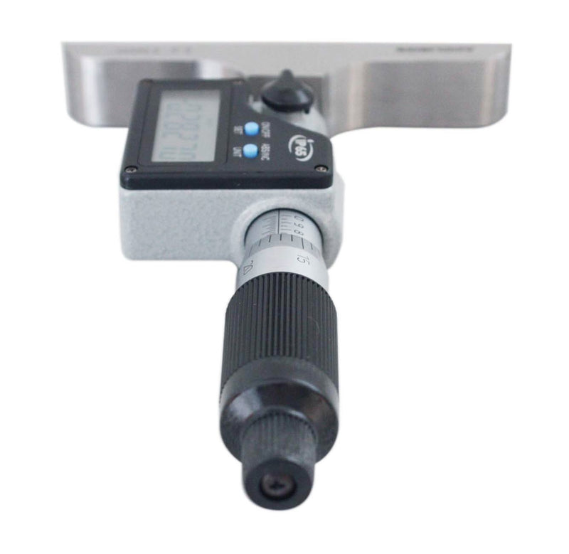 "0-6"" X  4"" base  Electronic digital Depth Micrometer, 2mm Spindle Pitch, IP65, P103-0178"