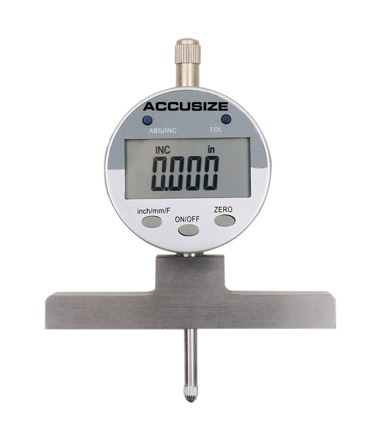 "0-22"" Electronic Digital Depth Gauge, Inch/Metric/Fractional, P103-0188"