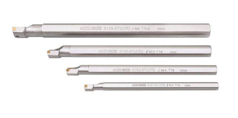 P252-S412, 31 Ps/Set Indexable Boring Bar Set, w/ TCMT inserts, Nickel-Plated