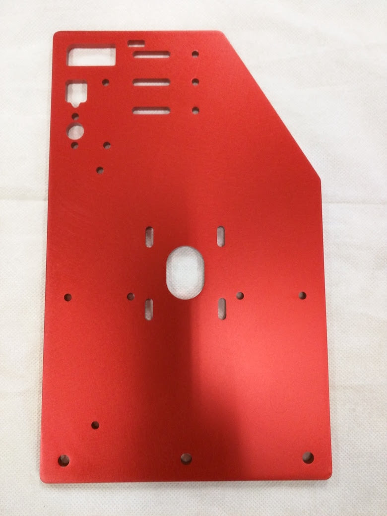 RoverCNC OX - OX Plates CNC Tall Gantry, Y-Brace Supports and Z-Plates, 11-hole - RED,
